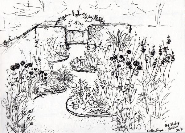 Castle Drogo - Shady Border